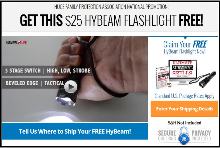 Survival Life's Free Hybeam Tactical Flashlight